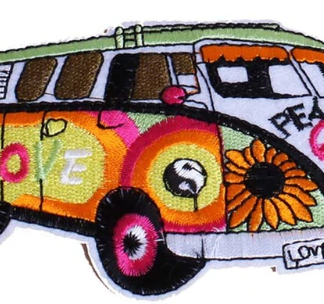 VW Love Bus Iron-On Patch
