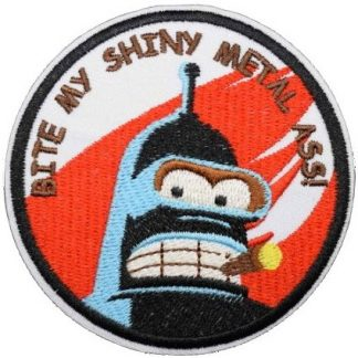 Futurama Bender Bite My... Iron-On Patch
