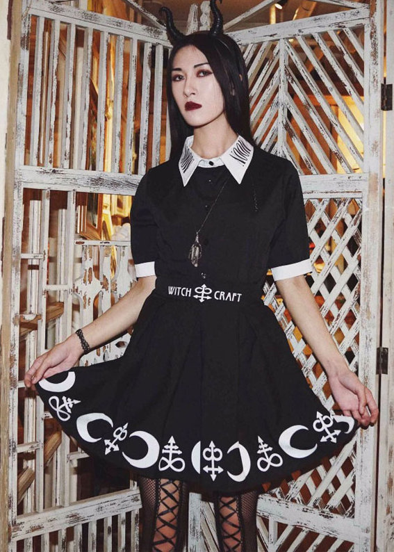 Witchcraft Mini Skirt & Moonchild Chiffon Blouse