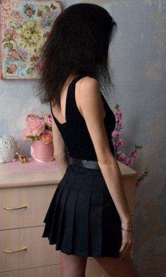 Pleated Micro-Mini Skirt w/Built-In Undies