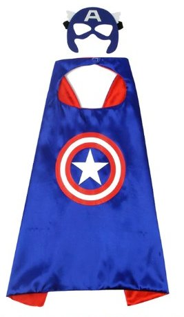 Kids Captain America Cape & Mask Set