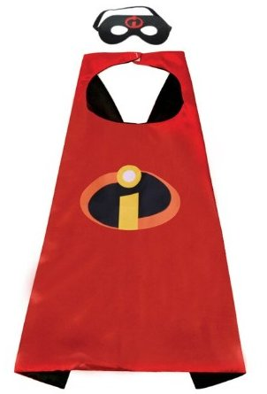 Kids The Incredibles Cape & Mask Set