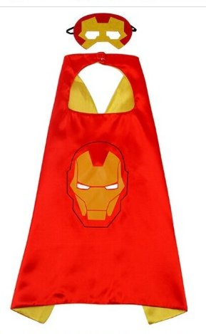 Kids Ironman Cape & Mask Set