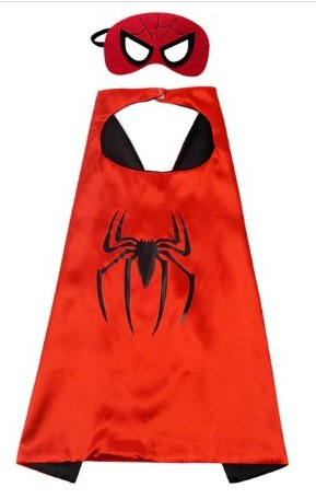 Kids Spiderman Cape & Mask Set