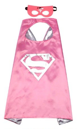 Kids Supergirl Cape & Mask Set