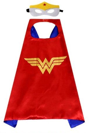 Kids Wonder Woman Cape & Mask Set #1