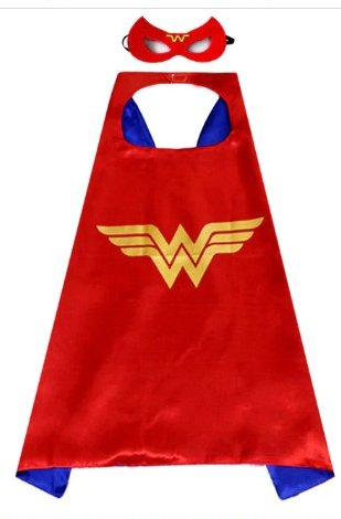 Kids Wonder Woman Cape & Mask Set #2
