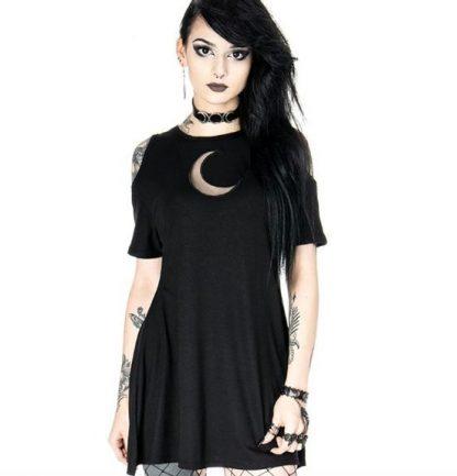 Moonlight Cold Shoulder T-Shirt Style Dress