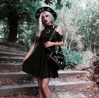 Moonlight Split Sleeve Cold Shoulder Dress