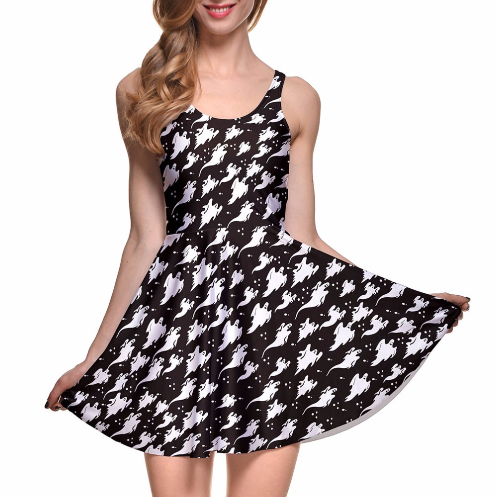 Spooky Ghosts Skater Dress