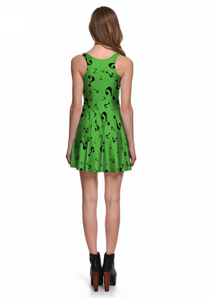 The Riddler Skater Dress