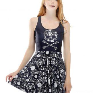 Skull & Crossbones Skater Dress