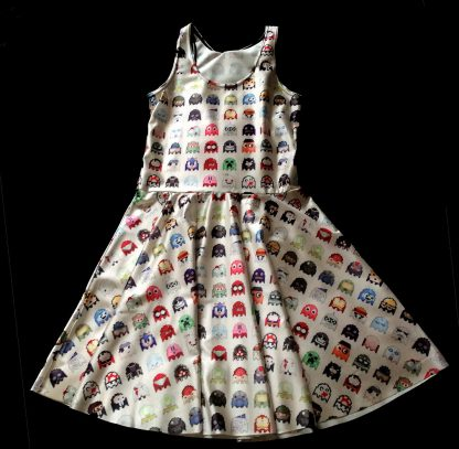 Video Invaders Skater Dress