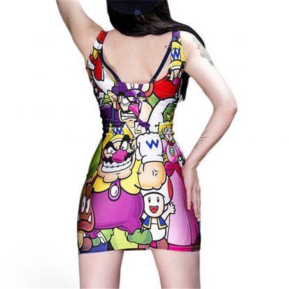 Super Mario Bros Body Con Mini Dress