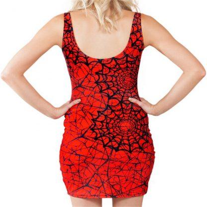 Spiderman Body Con Mini Dress