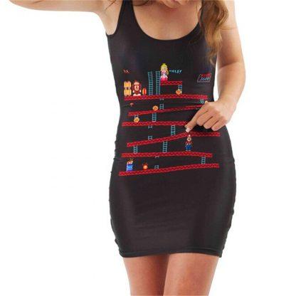 Donkey Kong Body Con Mini Dress