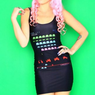 Space Invaders Con Mini Dress