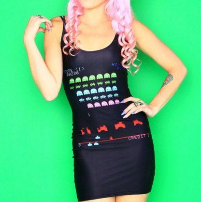 Space Invaders Con Mini Dress
