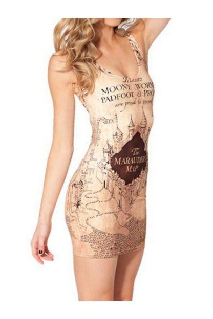 Harry Potter Marauder's Map Body Con Mini Dress