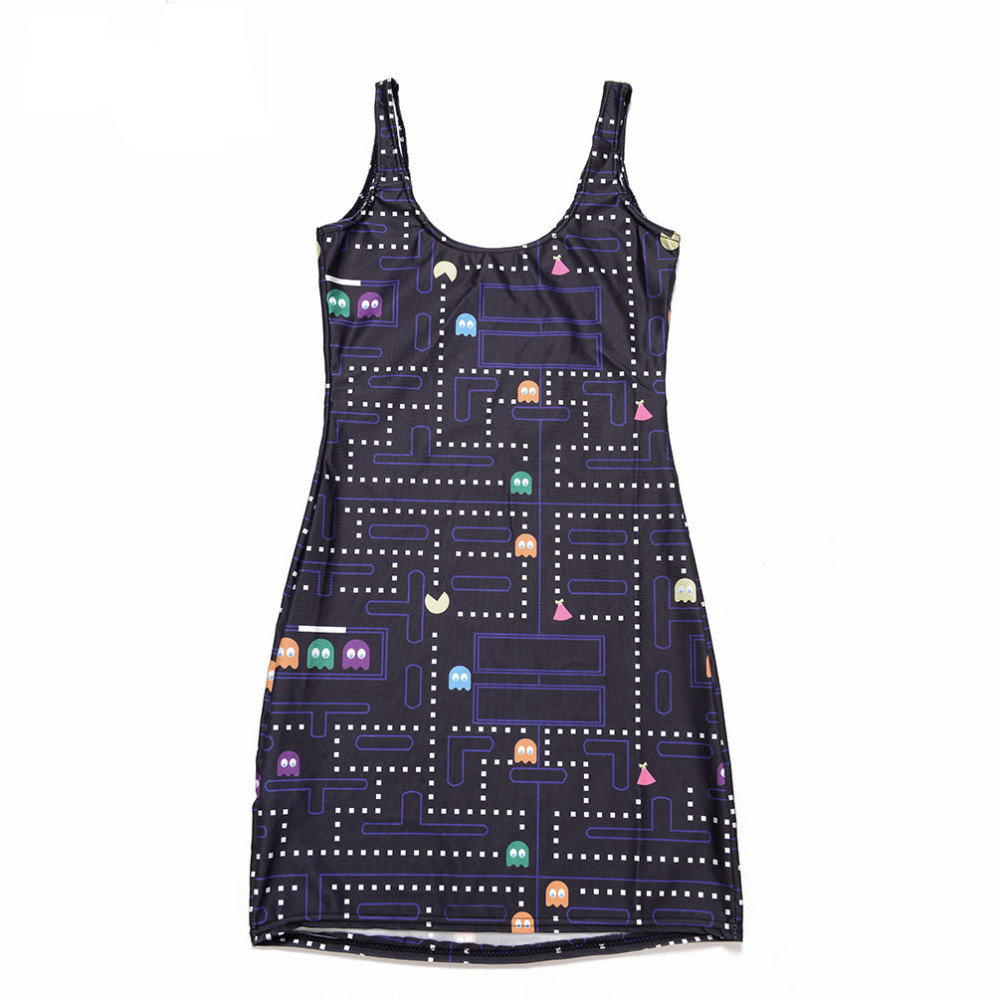 Pac-Man Body Con Mini Dress