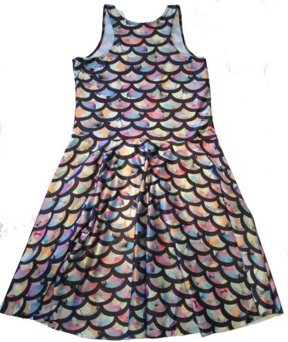 Mermaid Scales Skater Dress