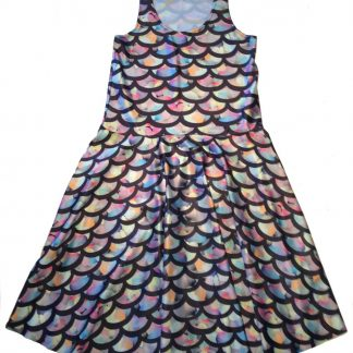 Mermaid Scales Skater Dress