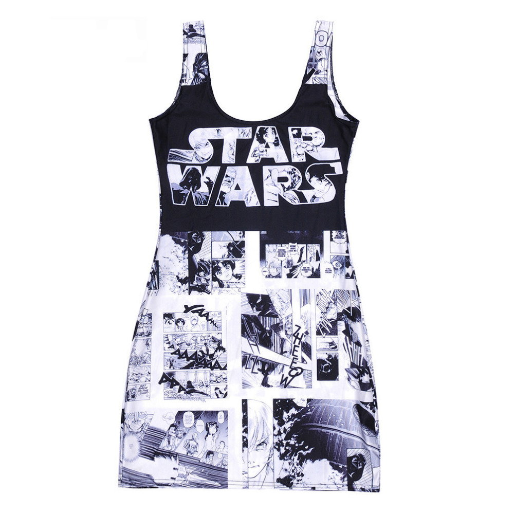 Anime Style Star Wars Body Con Mini Dress