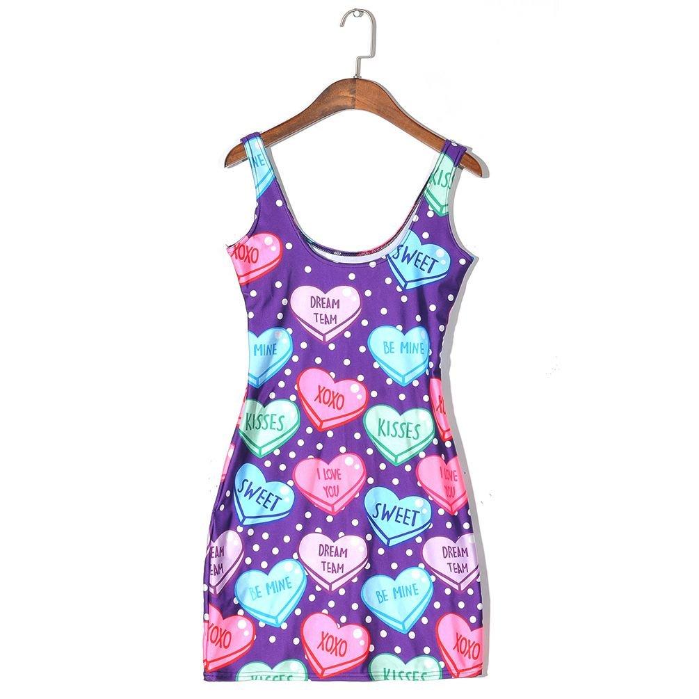 Candy Hearts Body Con Mini Dress