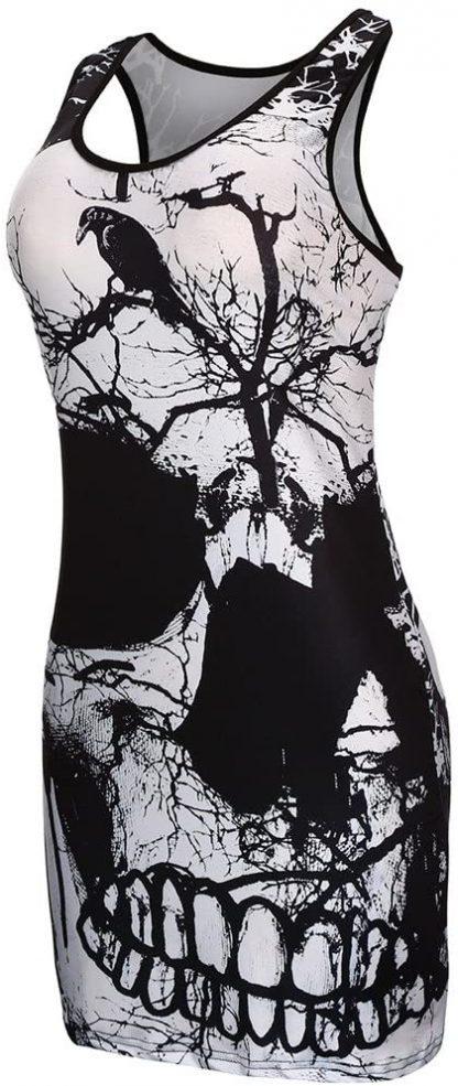 Skull & Raven Body Con Mini Dress