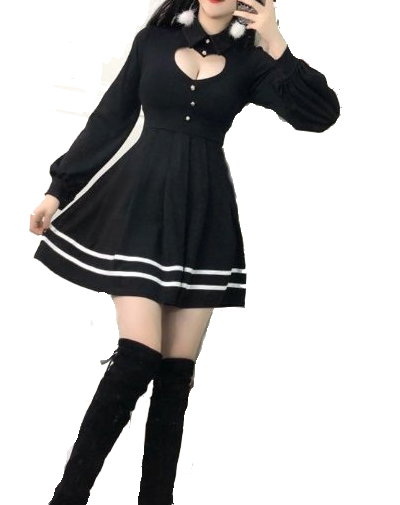 Lolita Mini Dress with Heart Cut-Out