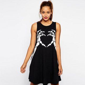Skeleton Love A-Line Dress