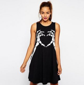 Skeleton Love A-Line Dress