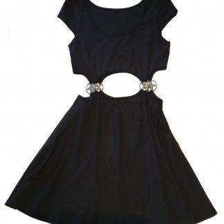 Gothic Pentagram Midriff-Baring Mini Dress