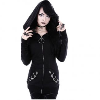 Punk Rings Zip Up Hoodie