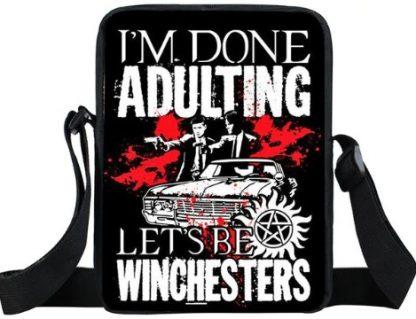 I'm Done Adulting Supernatural Mini Messenger Bag