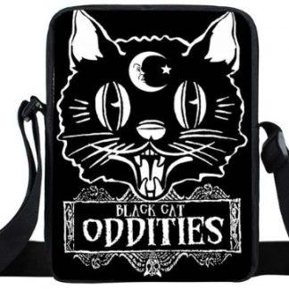 Black Cat Oddities Mini Messenger Bag