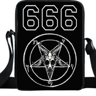 Baphomet Skull 666 Mini Messenger Bag