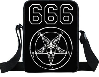Baphomet Skull 666 Mini Messenger Bag