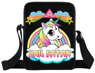 Hail Satan Unicorn Mini Messenger Bag