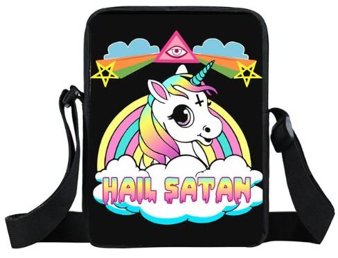 Hail Satan Unicorn Mini Messenger Bag