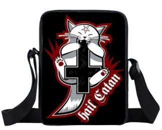 Hail Satan Cat Mini Messenger Bag