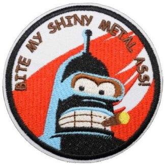 Futurama Bender Bite My... Iron-On Patch