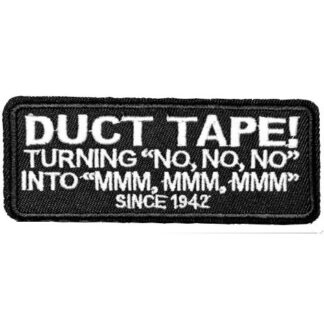 Duct Tape! Turning No No No... Iron-On Patch