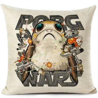 Star Wars Porg Wars Pillow Cover
