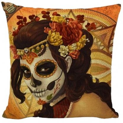 Day of the Dead Sugar Skull Pillow Cover #2