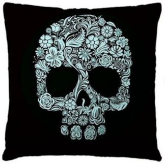 Day of the Dead Sugar Skull Pillow Cover #3