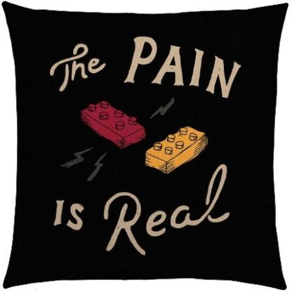 Lego The Pain Is Real Pillow Cover