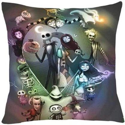 Tim Burton Movie Montage Pillow Cover