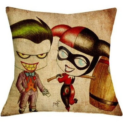 Harley Quinn & The Joker Pillow Cover #1