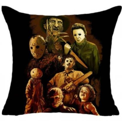 Horror Movie Collage Pillow Cover #2